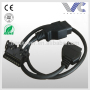 16pin Male to Female OBD2 Y Adapter Diagnostic Connector Cable for All Cars OBDII 1ft