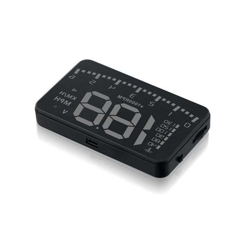 Car HUD Head-up Display For OBD2 II Universal Car Display Overspeed Warning System Speed Voltage Alarm HUD Projector