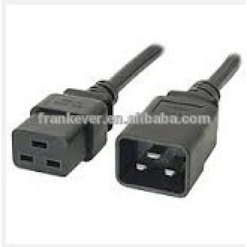 America C19 to C20 approved AC power cord High Quality