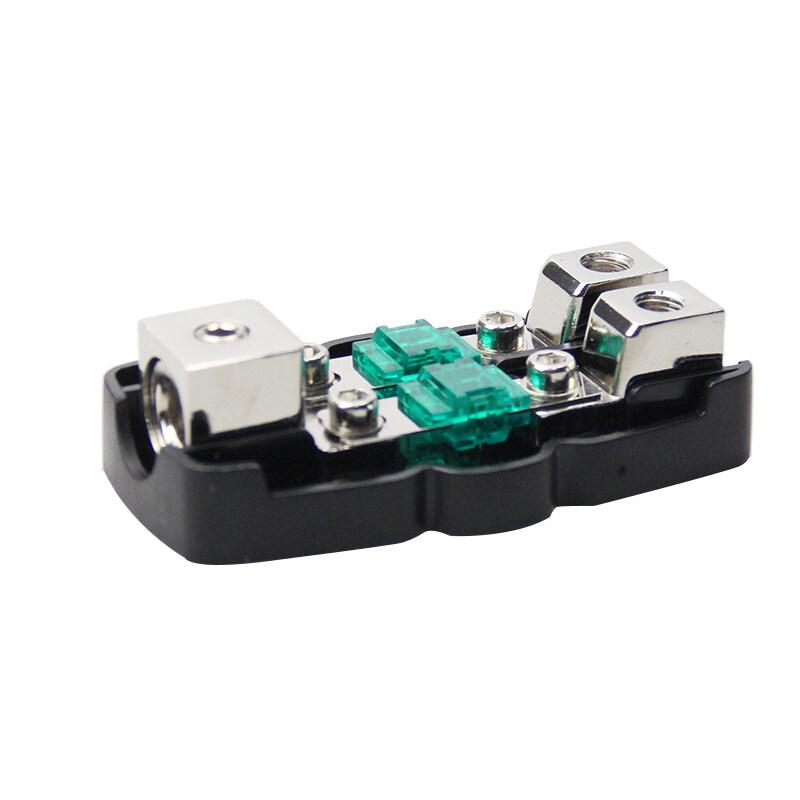 Auto plastic waterproof 12V 24V fuse holder box 1x0/4ga in-2x4/8ga out car fuse holder