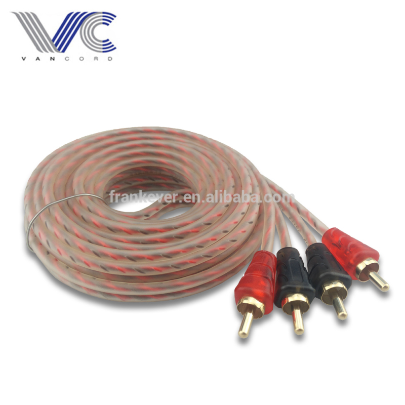 3.6mm 2R Male to 2R Male RCA Cable Black and Red Terminals