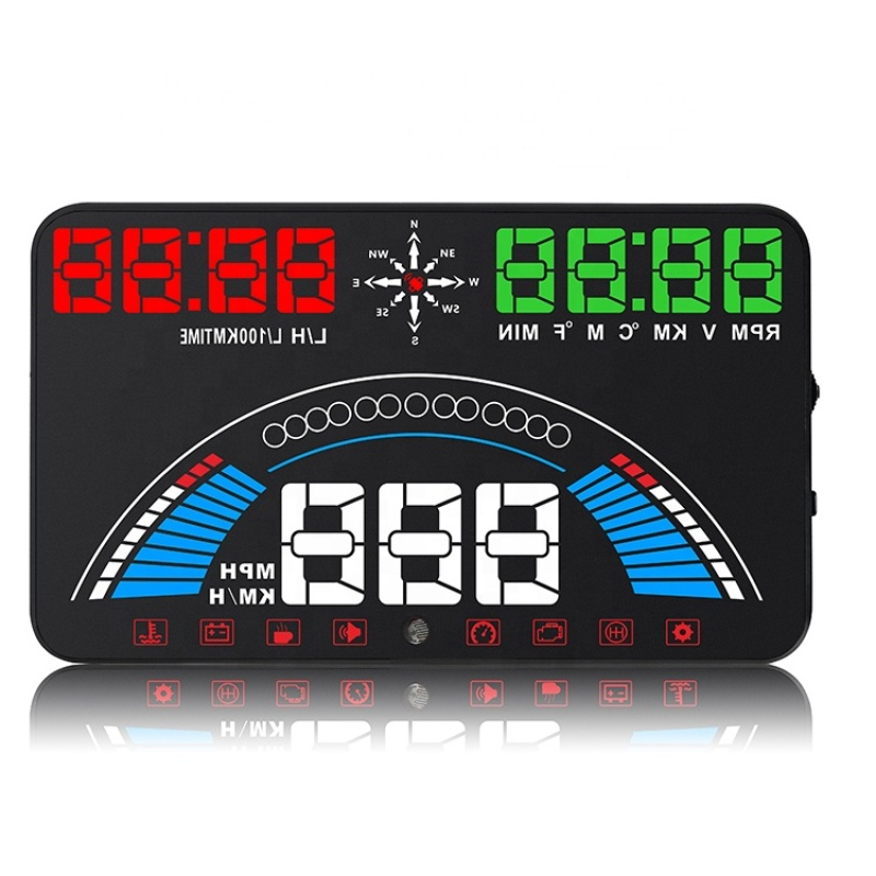 Car HUD OBD II OBD2 Head Up Display Projector Overspeed Voltage Alarm Water Temperature Rotating Speed Multifunction Display