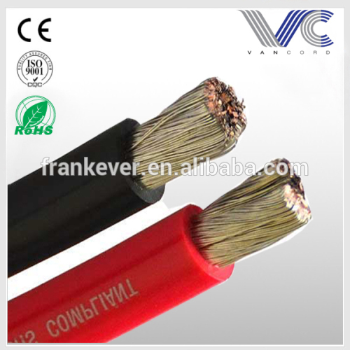 6AWG matt solid color PVC Copper power wire power cable