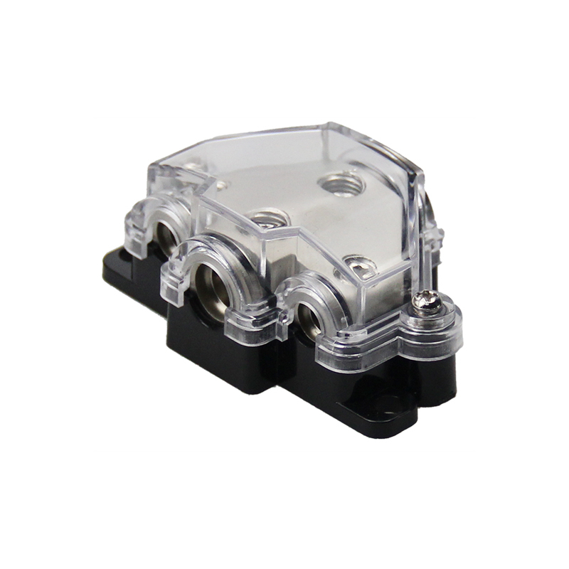 High quality Distribution Blocks 1*0ga In-2*8ga Out+1*4ga Out Power Distributor Block Fuse Holder