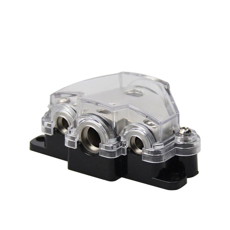 1*0ga in-2*8ga out+1*4ga out Amp Power Distribution Block Car Audio Splitter 3 Way Outputs Power Distributor Block Fuse Holder