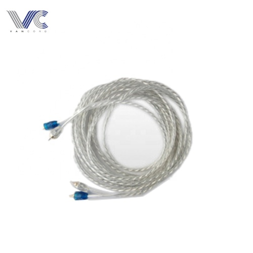 FrankEver Car Audio Cable Transparent 5mm PVC 2R To 2R RCA Cable