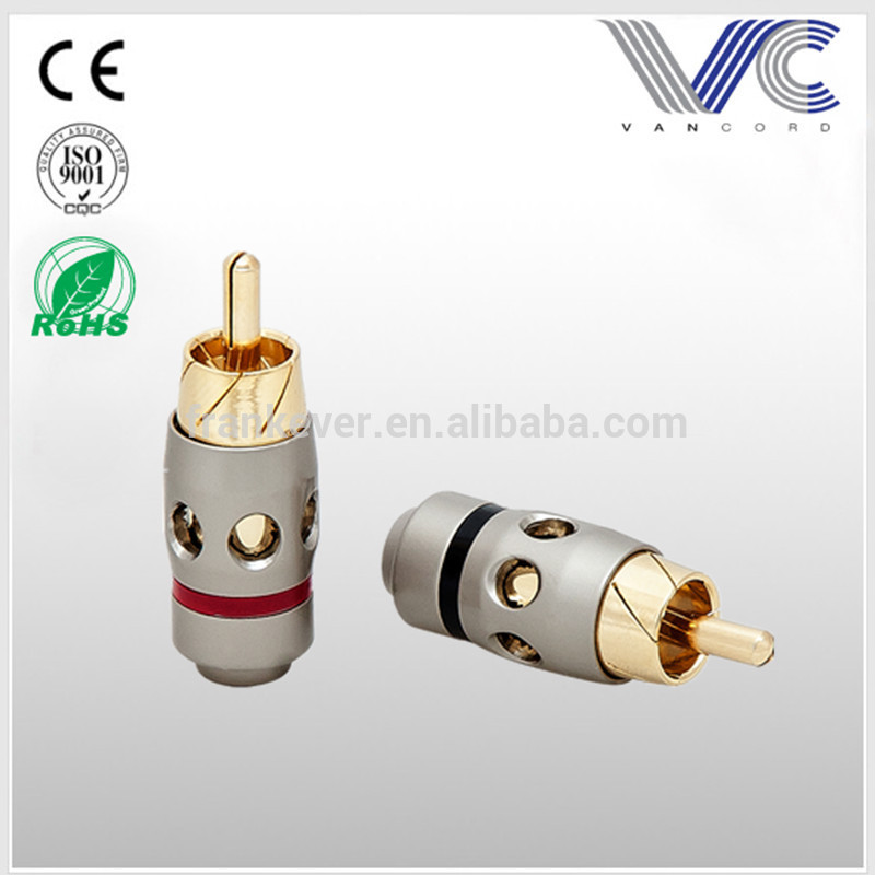 Audio Video RCA Male Plug gold and nickle plated