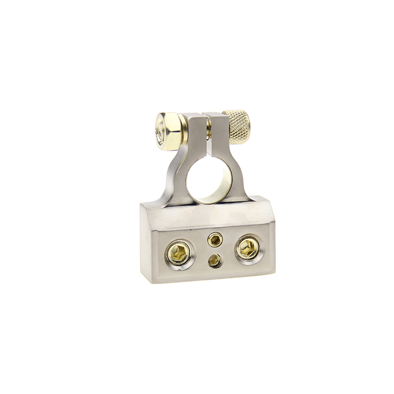 High quality zinc alloy battery terminal with sleeve for positive and nagtive