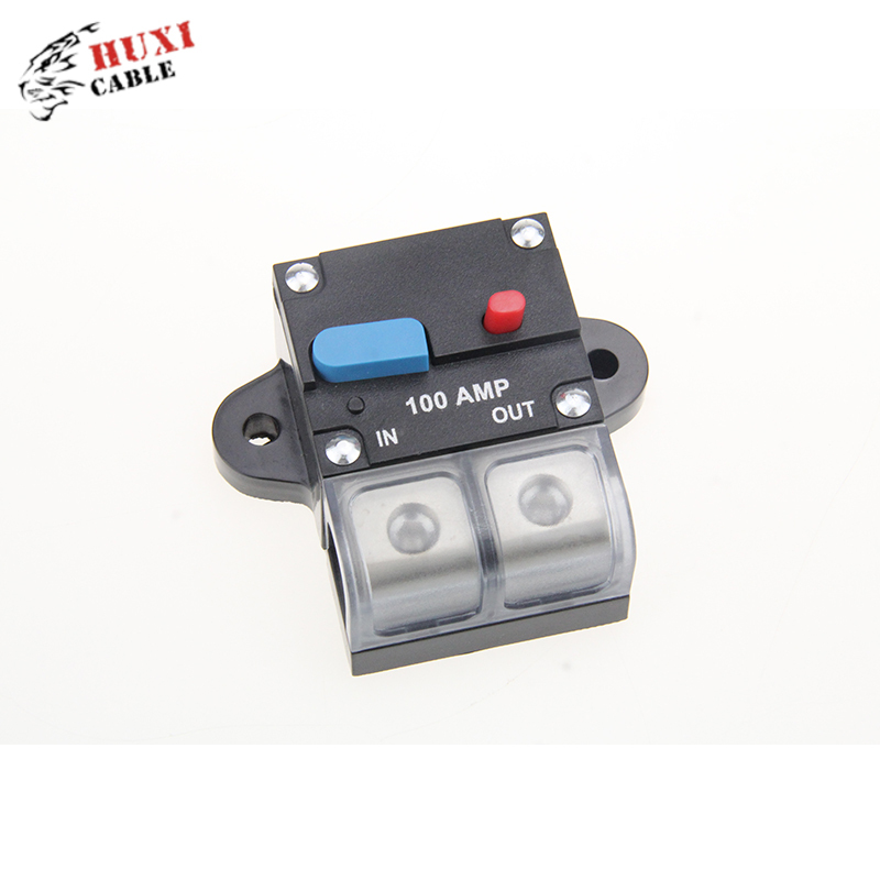 High Quality 80A/100A/150A/200A/250A/300A Black And Red Car Audio Circuit Breaker with gold plated