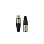 Good Quality Black 3 Pin XLR Female Male 3Pin Microphone XLR Plug