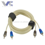 5+5mm 2R-2R Male RCA Cable AV Cable Transparent