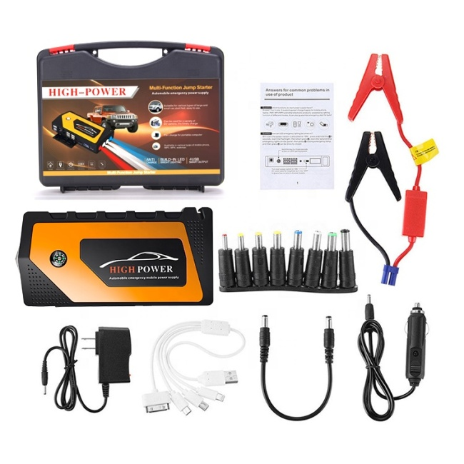 12V 9000mAh Auto Roadside Emergency Jump Starter with Flashlight