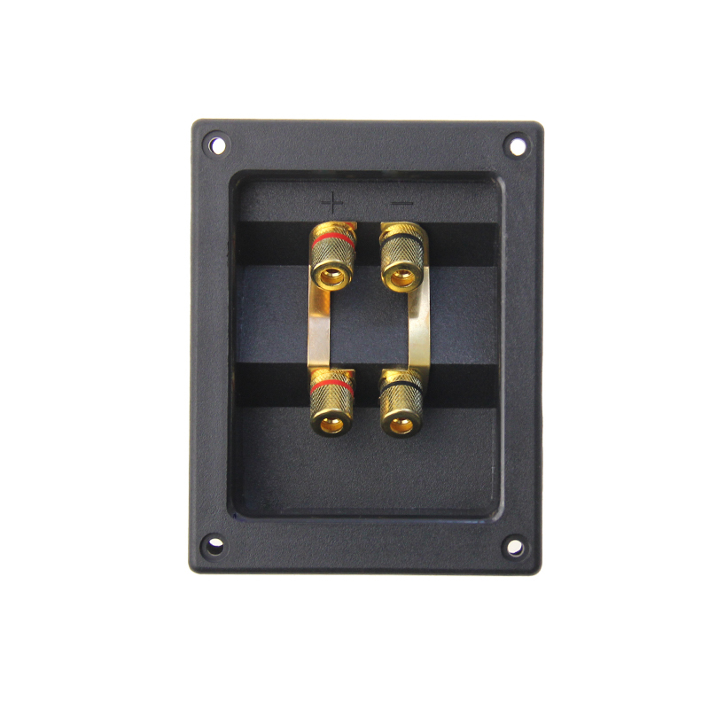 4 ways ABS copper  square speaker box binding post,Speaker box cup
