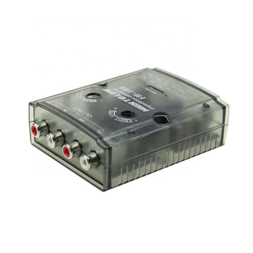 Auto Car High to Low Impedance Converter Adapter Speaker to RCA Line