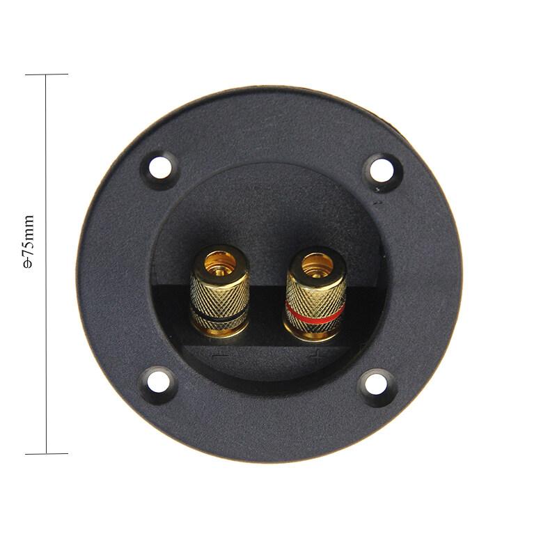 2 ways ABS zinc alloy plated gold round speaker box terminal cap