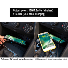 New Product Wireless Car Charger Mount For Tiguan L/Tuyue (2017-2020) 72W Fast-Charging Car Charger Wireless