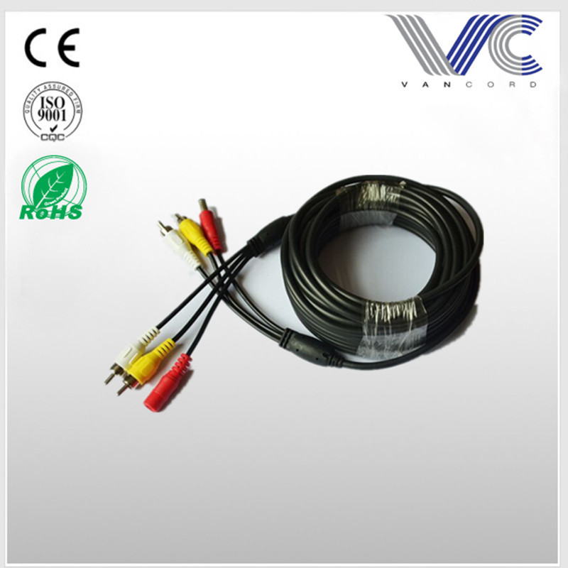 CCTV camera cable 2 RCA with DC connector