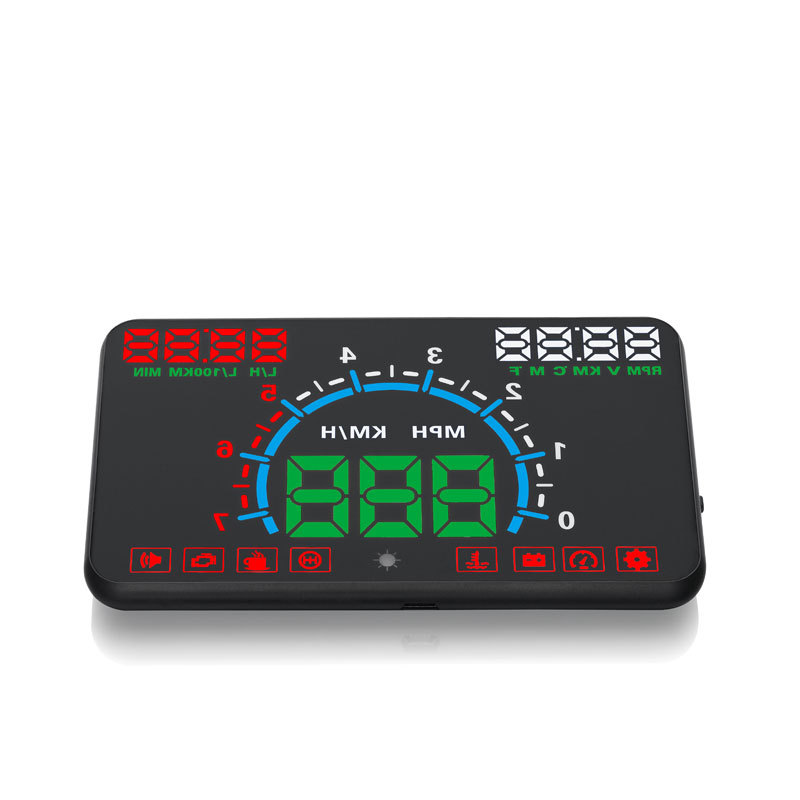 2020 5.5 inch Smart LCD HUD driving head up display for universal vehicle apply to cars with OBD2 interface