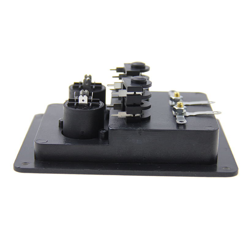 ABS zinc alloy plated gold binding posts speaker terminal box square speaker terminal cup
