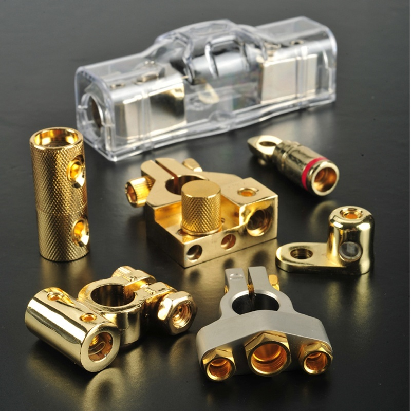 100A Nickel Plated Car Stereo Audio AFS Mini ANL Fuse Holder