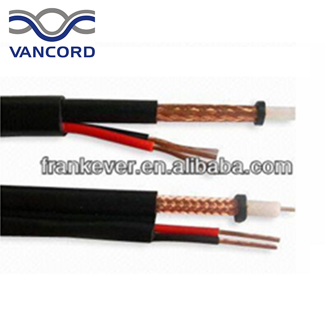 Top selling RG59 black copper coaxial cable with CE, RoHS,China manufacturer