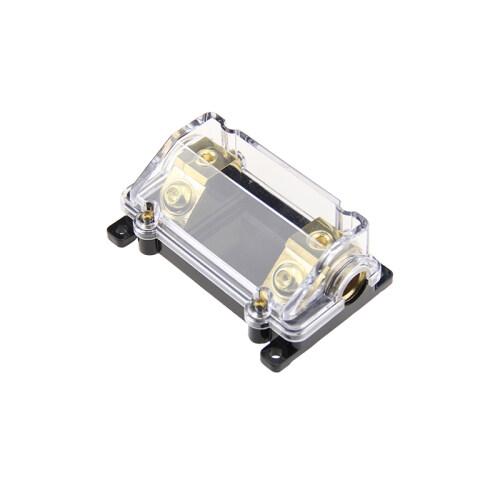 New Automotive Panel Mount Plated Agu Auto Car Audio Anl Fuse Holder