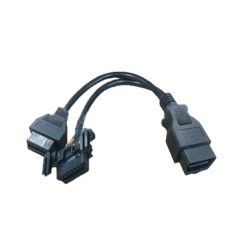 OBD2 Male to Dual Female Adapter Splitter Extension Cable 18cm OBD II 0.6FT