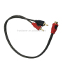 3.0mm RCA Cable 2R Male to 1 Female RCA Adapter Cable