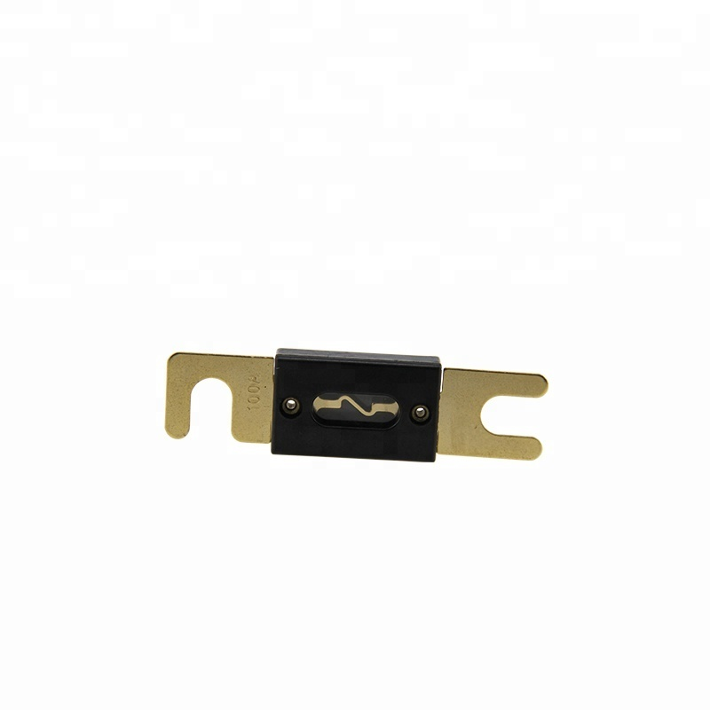 Black ANL fuse plated gold plating 300A for car