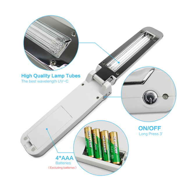 Efficient Folded Household UV Disinfection Stick Sanitize