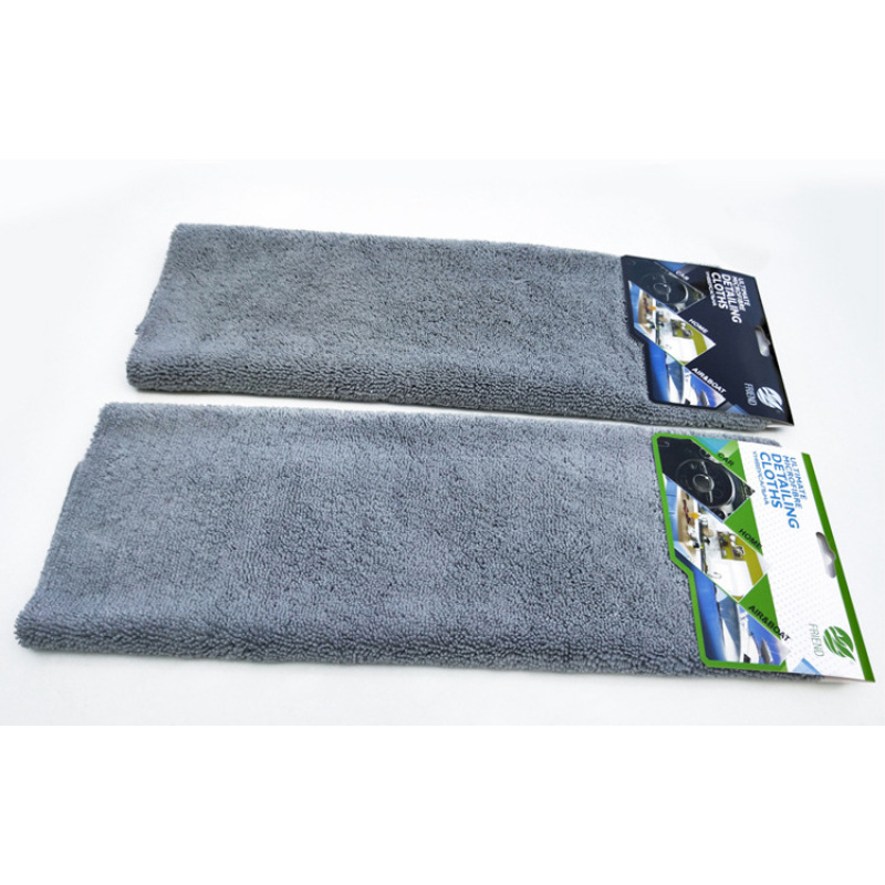 Free sample 380 GSM 40*40 microfiber towel car wash towel multicolor soft High and low wool car cleaning cloth