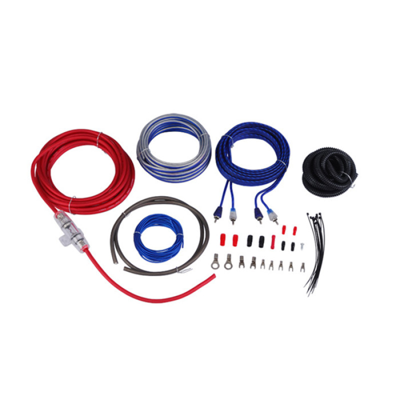China supplier custom 0/4/8 gauge car amp wire kit with double blister pack