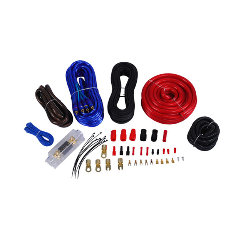 factory price 4 Gauge Red Color Amplifier Wiring Kit For Car Audio System/12V Audio Cable Kit