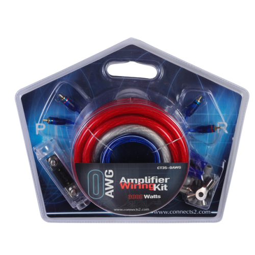 Transparent Frosted flexible Car AMP Wiring Kit 0 AWG CU Audio Cable Kit for Car