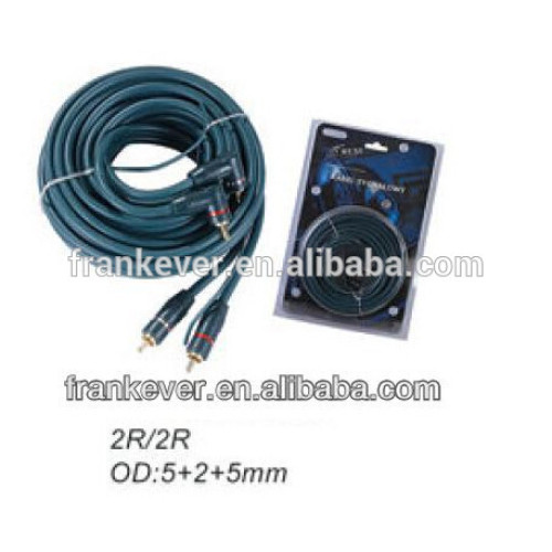 Golden plated PVC 2R to 2R CCA Auto interconnects