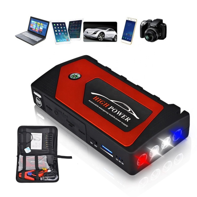 High quality super mini LED illumination light car battery jump starter for dead battery