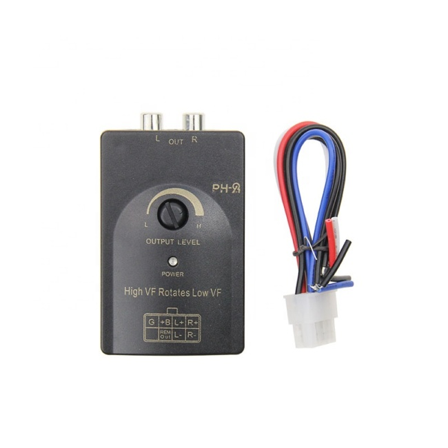 Car Stereo Speaker 2-Channel Audio Adjustable Level Lineout Converter
