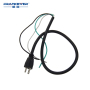 105 degree high temperature resistant rubber black copper AC power cord cable with 3 pin power plug 14awg power cord