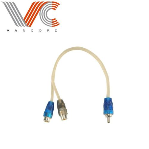 1 male to 2 female splitter Y cable adapter Y-Connecting RCA Cable