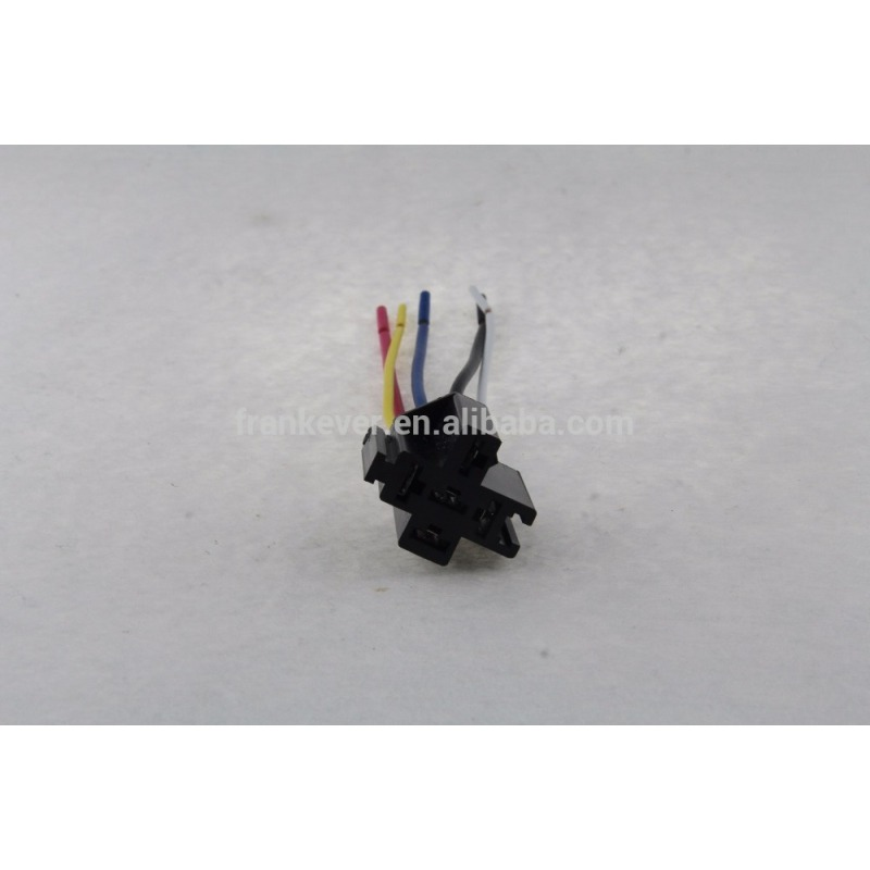 5 Pin Plastic Cable Wiring Relay Socket Harness Relays For Auto