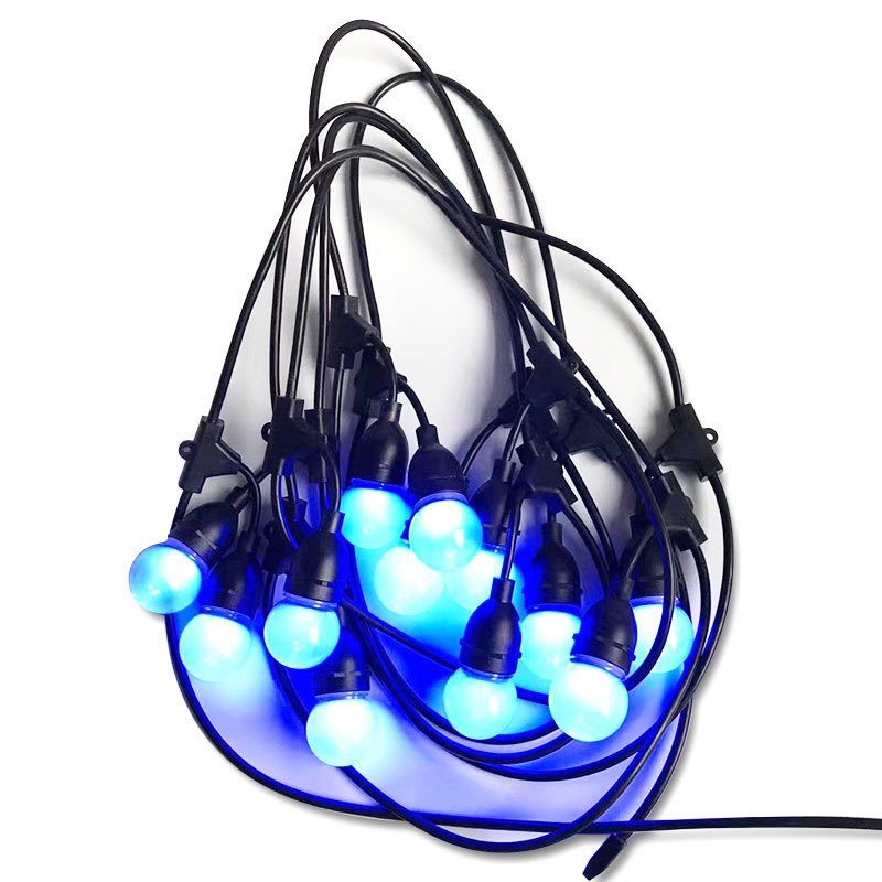 Waterproof Indoor/Outdoor String Lights Hanging Sockets Market Cafe Edison Vintage Bistro Patio Garden Porch Backyard Deck party
