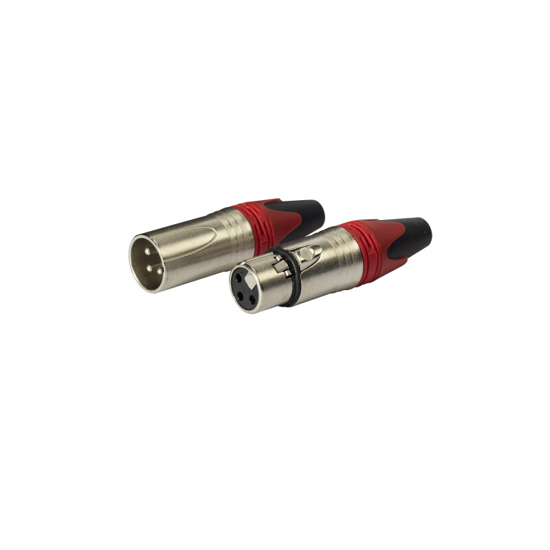 Silver plated Male Female 3-Pin XLR Microphone Audio Plug Connectors Cannon Cable