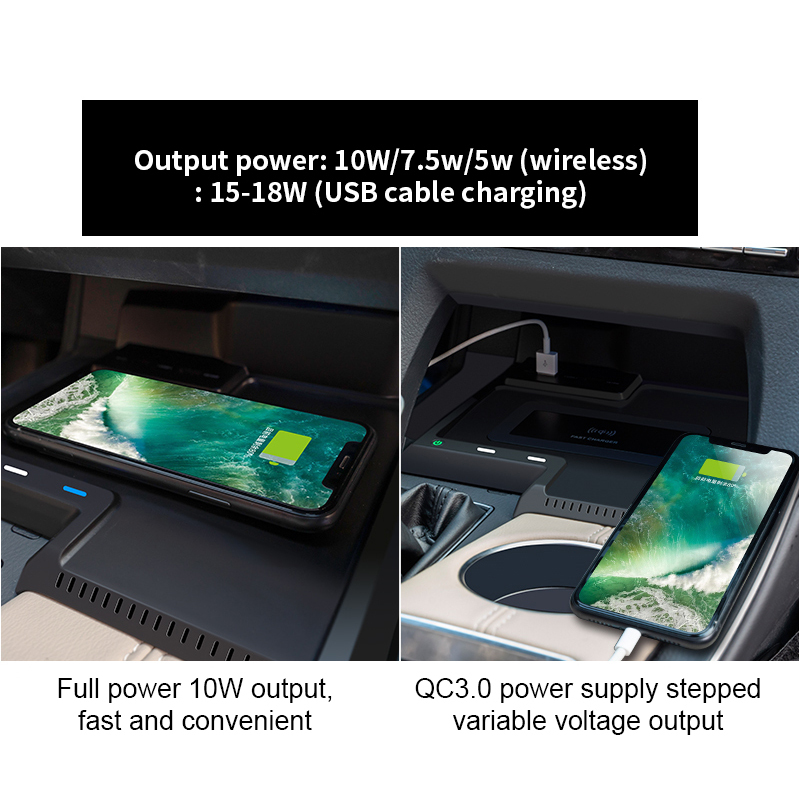 2020 Hot Smart Sensor Automatic 5W/7.5/10W  Car Wireless Charger Qi Wireless Charger Car For Toyota Asia Dragon