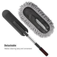 Long handle car cleaning brush soft microfiber flexible car duster with EVA comfortable handle