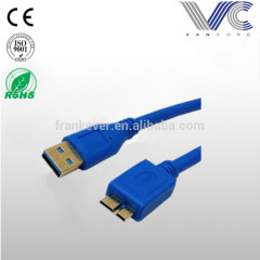 Superspeed USB 3.0 Type A Male to Micro B Male 24/28AWG Cable (10 Feet, Blue)