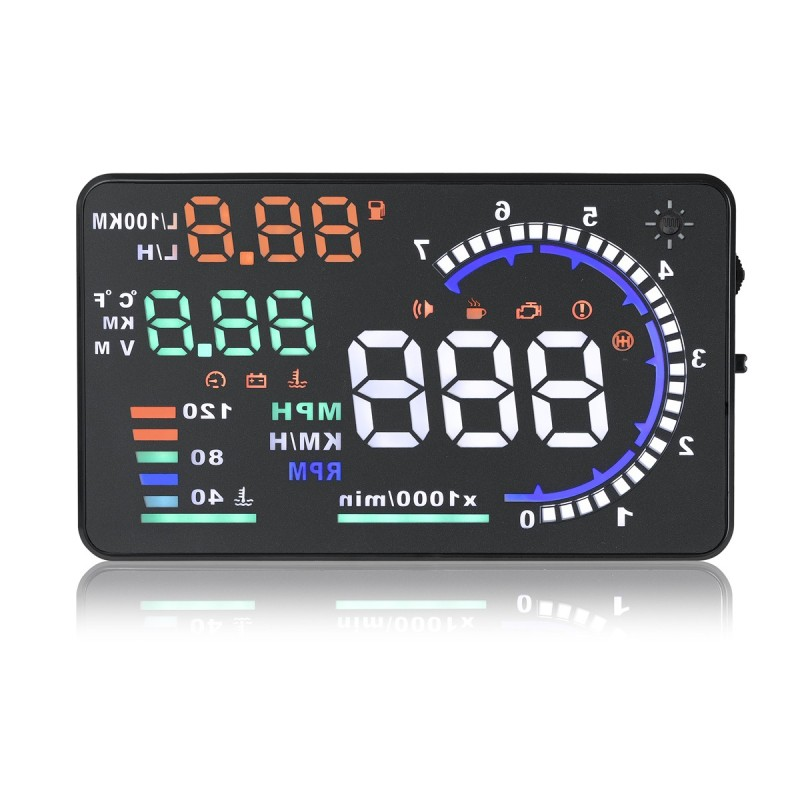 2020 Best Sell Car projector Speedometer OBD2/OBDII 5.5 Inch Car HUD A8 Car Head Up Display HUD