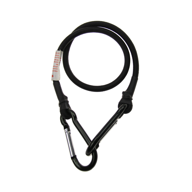 Multi-function luggage rope bungee cord with safety carabiner hook