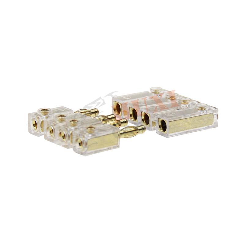 Car cable screw terminal 4 way with size 4*10GA to 4*10GA