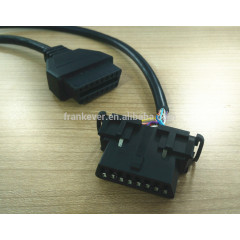OBD2 Male to Dual Female Y Cable Extension Cable for Diagnostic OBD II 1ft
