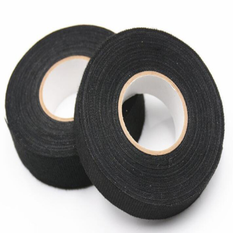 Black heat resistant auto wire harness cloth strong adhesive tape